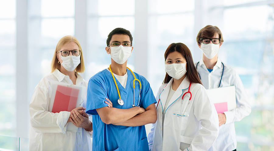 doctors with masks on